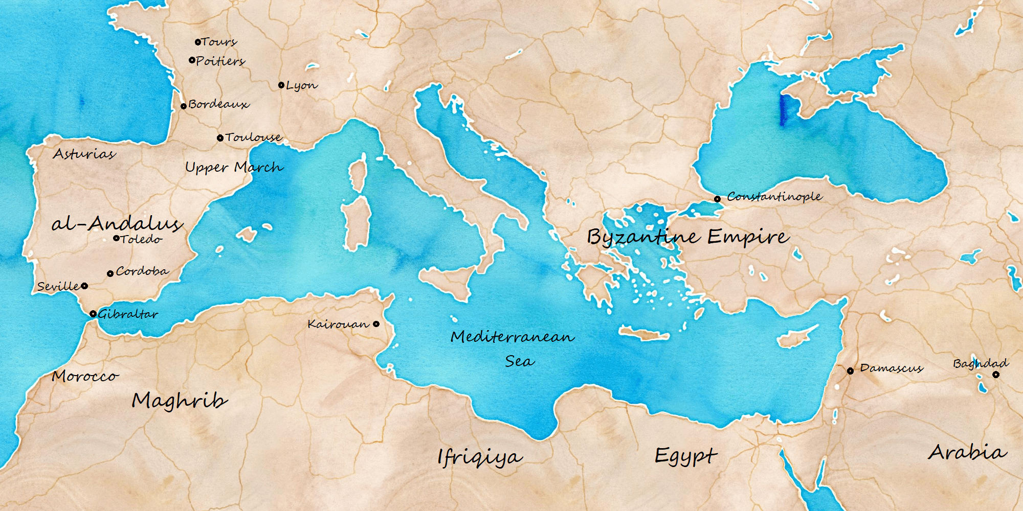 Andalus Conquest Map