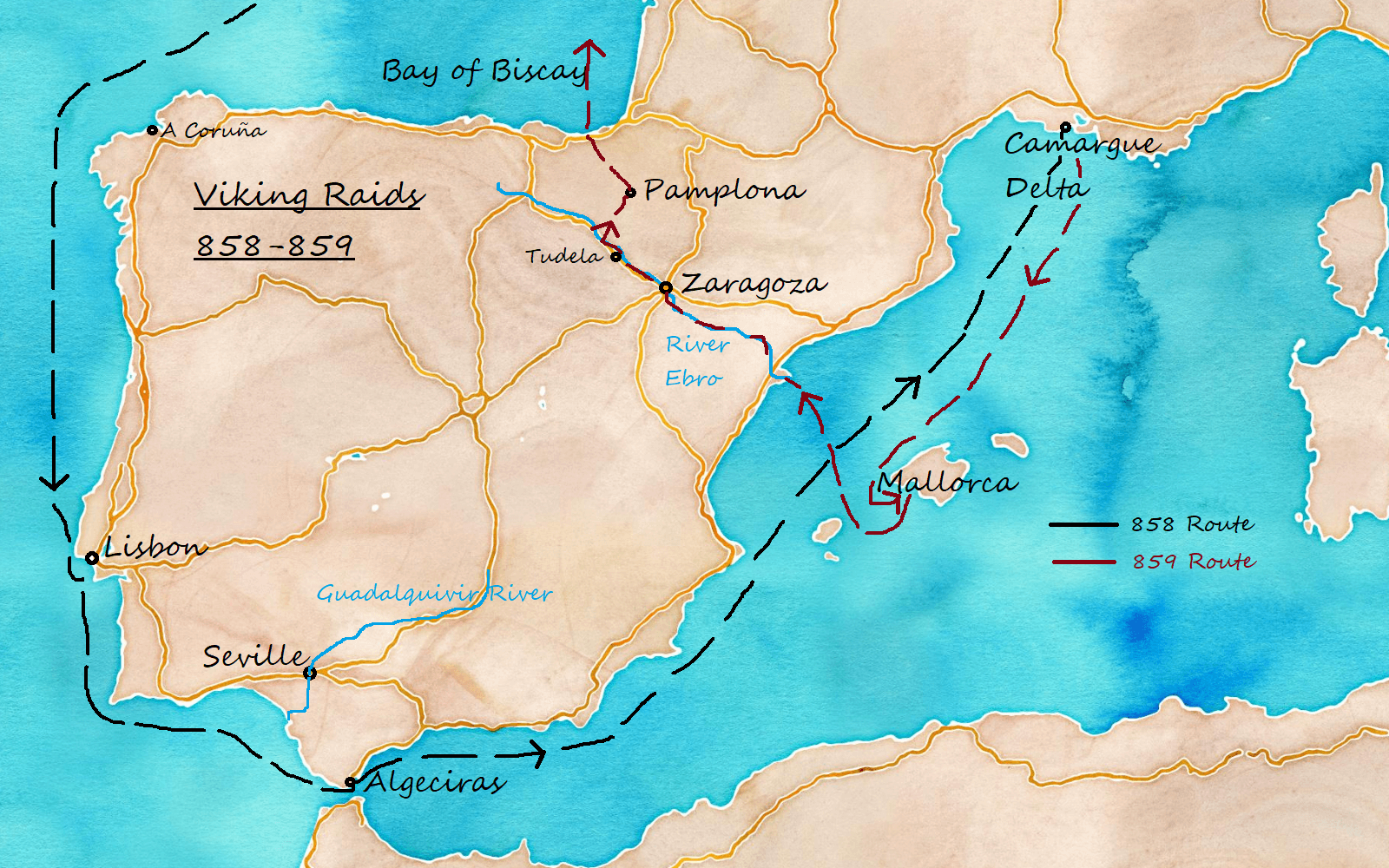 Viking Route and Escape
