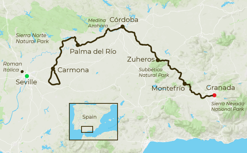 Andalucia Cycling Map