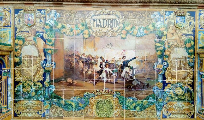 Madrid tiles at Plaza de España
