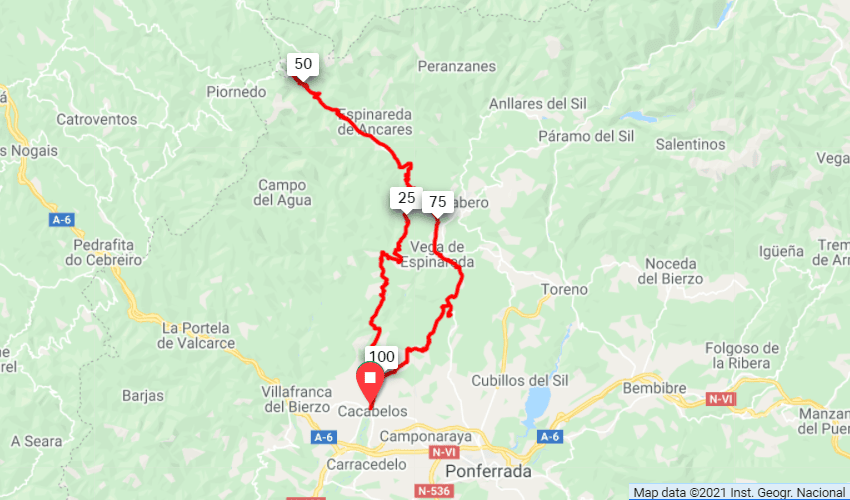 Bierzo Vineyards Route Map