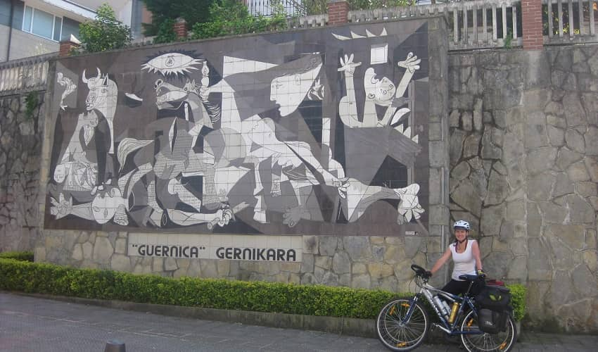 Wall Mosaic in Guernica
