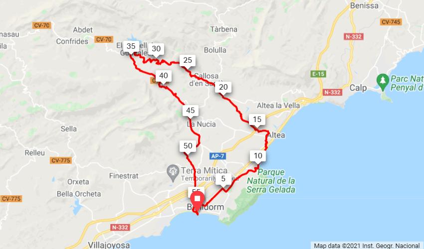 Guadalest - Coast Map