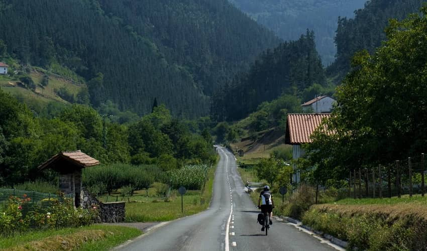 Green Scenery in the Basque Country.