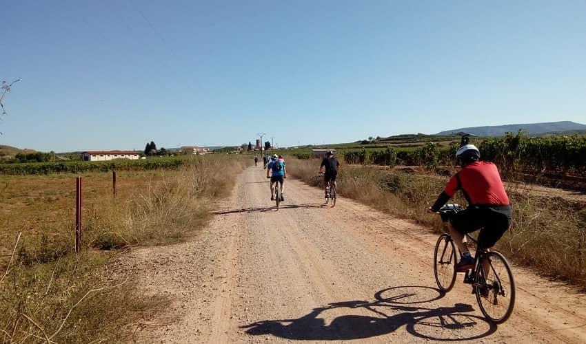 Riding a Gravel Trail on the Camino de Santiago route