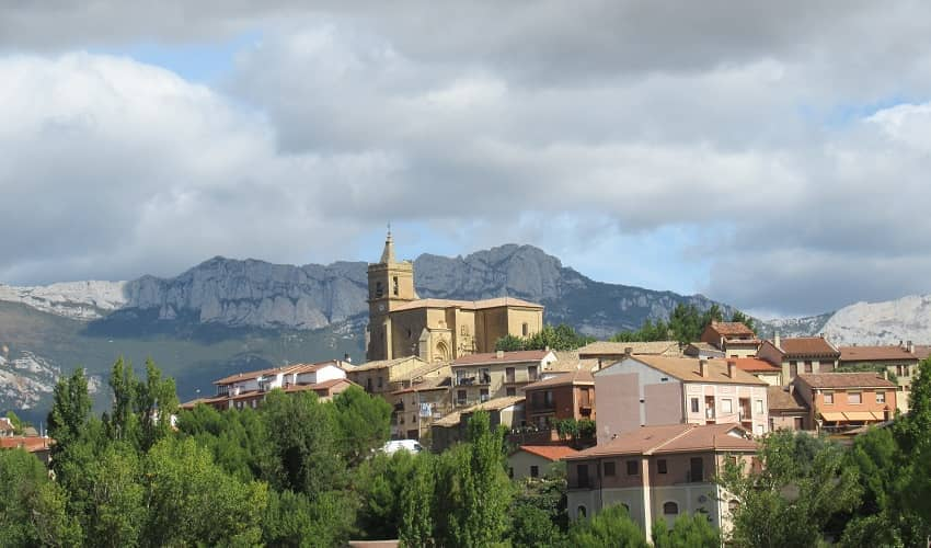 Rioja Church and Mountains