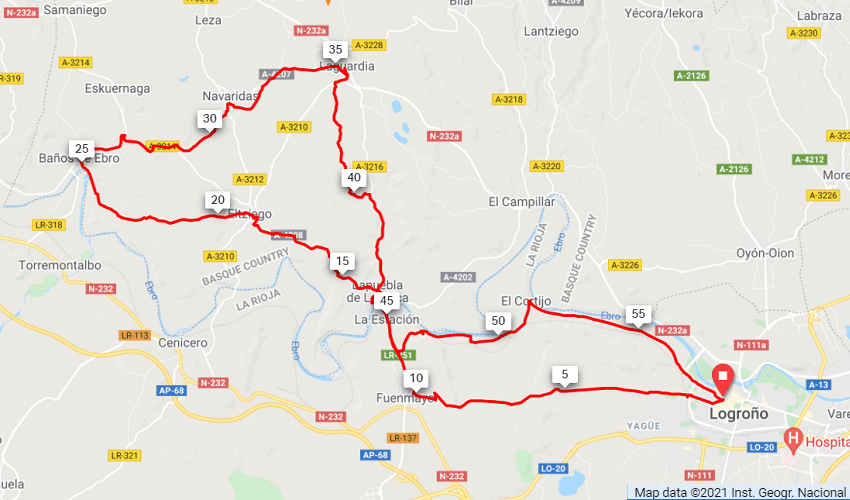 Rioja Route Map
