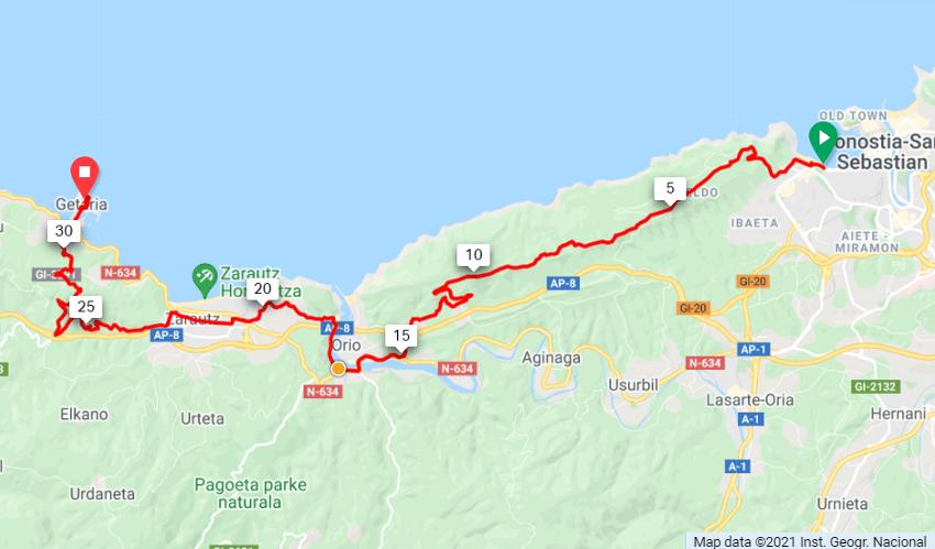 Txakoli Vineyards Route Map