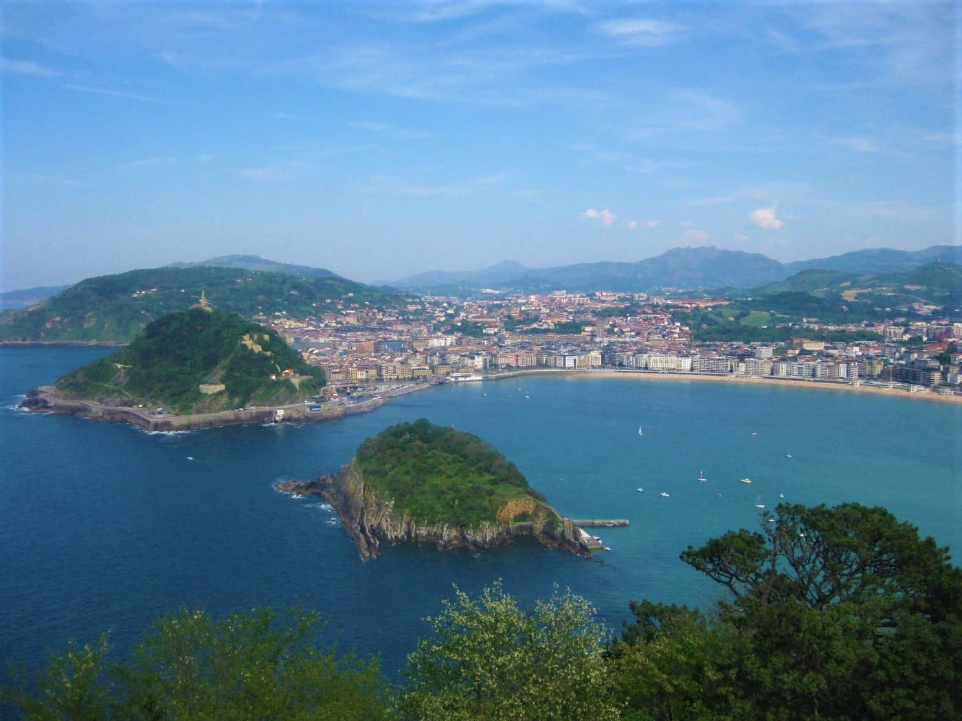View of San Sebastian from Monte Igueldo