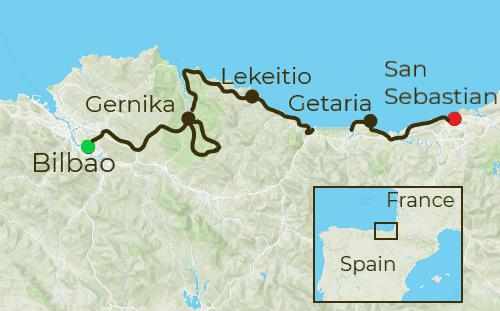 Basque Coast Tour Map