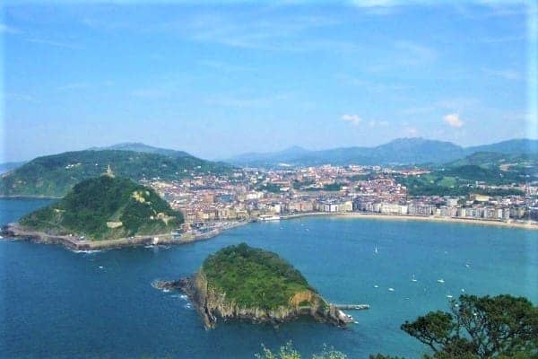 San Sebastian view from Monte Igeldo