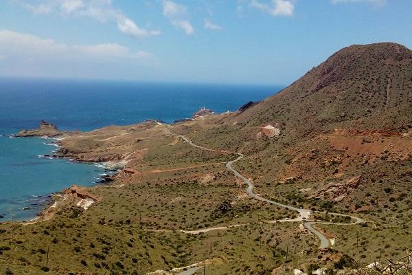 Winding Road past Volcanoes