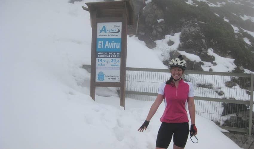 Snow on Angliru