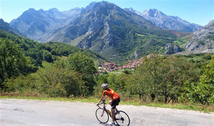 Road bikes shining in the mountains