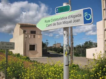 Mallorca cycle route sign