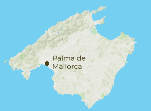 Mallorca Arrivals and Departure Map