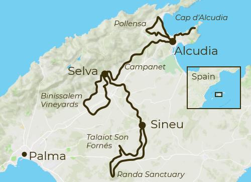 Mallorca Villages Tour Map