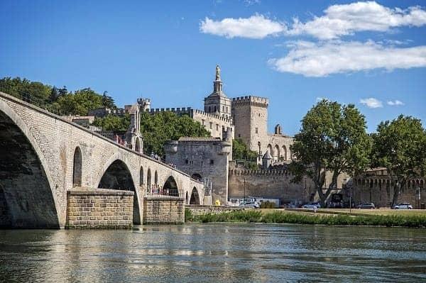 Avignon on the River Rhone