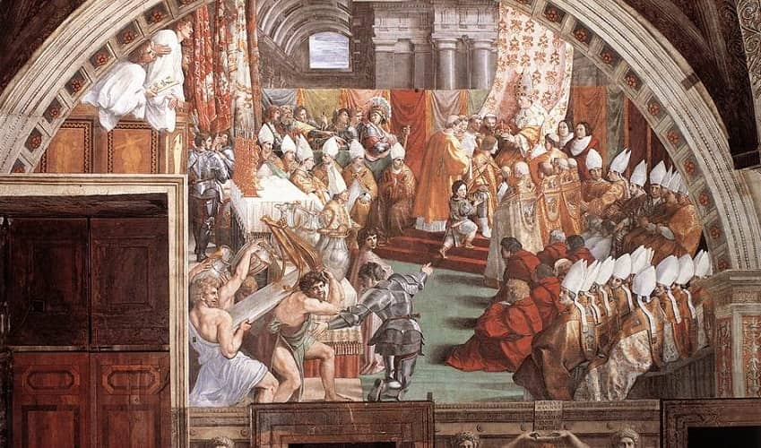 Coronation of Charlemagne - Raphael