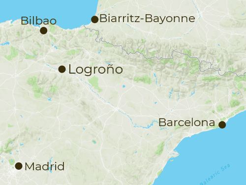 Girona Arrivals and Departure Map