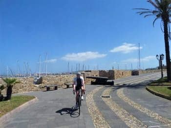Cycling around Alghero Wall