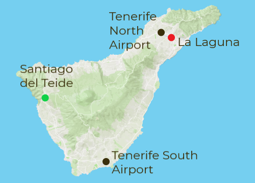 Tenerife Arrivals and Departure Map