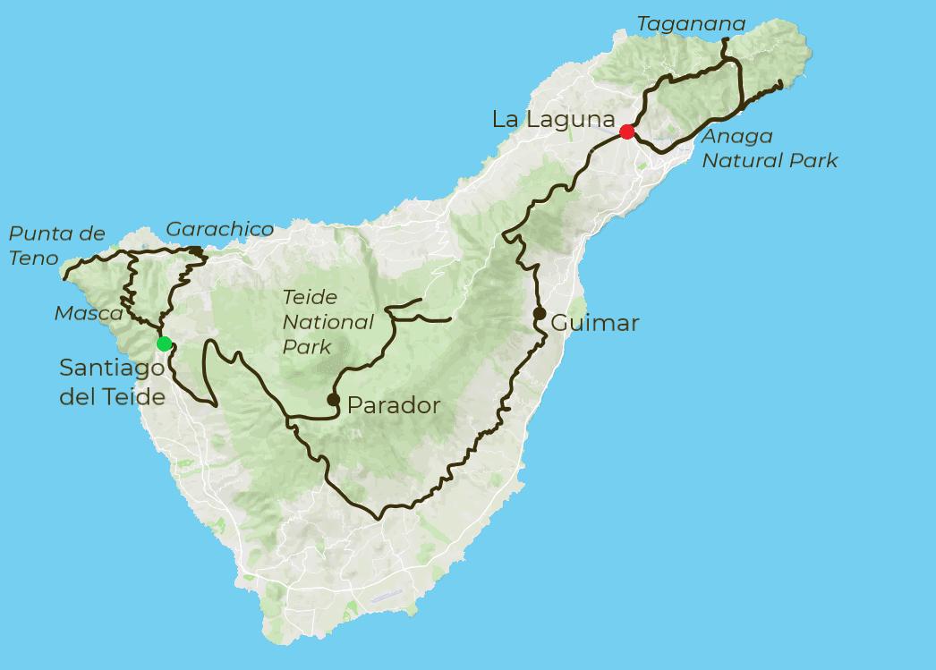 Tenerife Cycling Map