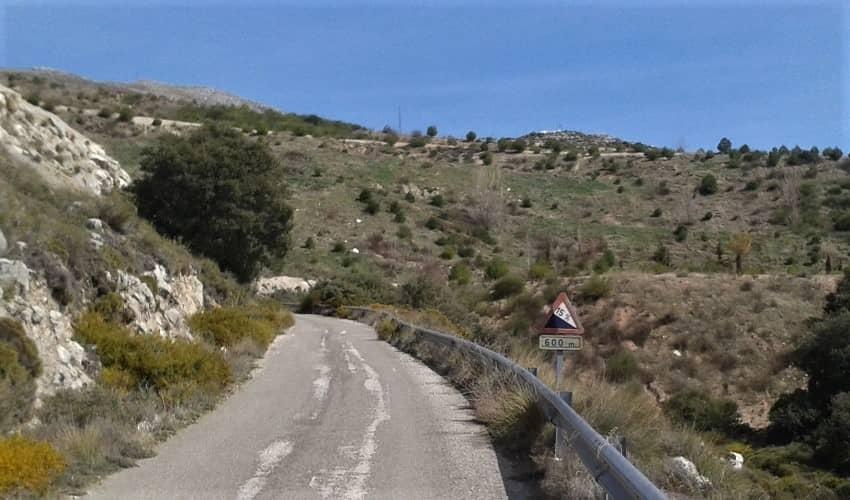 La Pandera (Los Villares) -  Cycling Climb in Andalucia