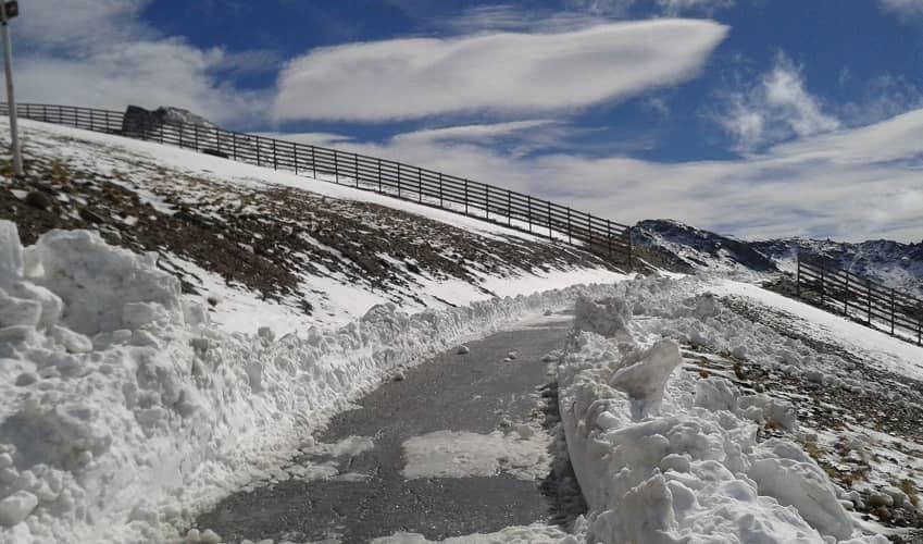 Snow on Pico Veleta