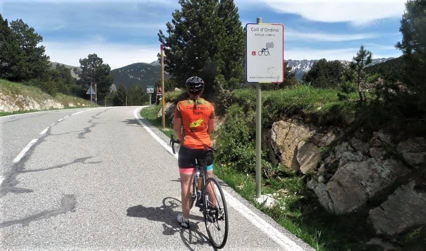 Coll d'Ordino Top of the Climb