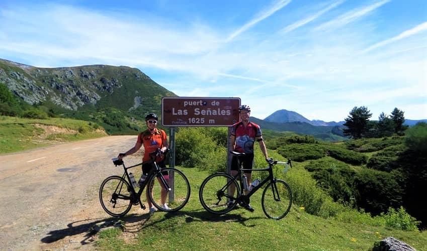 Puerto de las Señales road surface- Castilla y León Cycling Climb