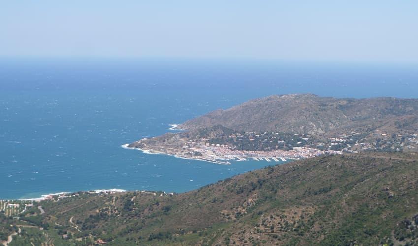 Sant Pere de Rodes from el Port de la Selva