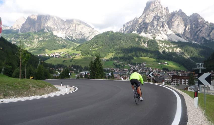 Passo Campolongo from Corvara - Italian Alps Cycling Climb