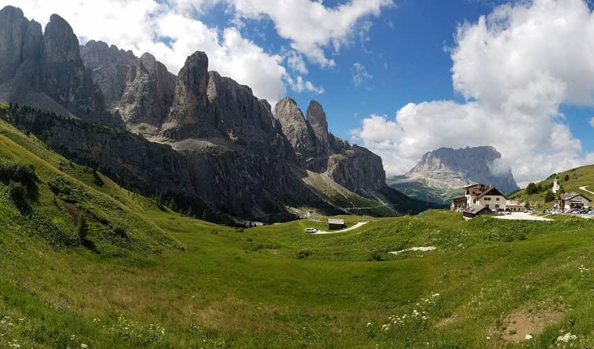 Passo Gardena from Corvara - Italian Alps Cycling Climb