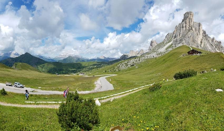 Distinctive peaks of Passo Giau