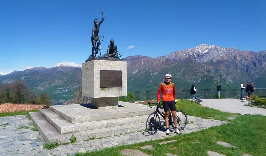 Madonna del Ghisallo from Bellagio - Italian Alps Cycling Climb