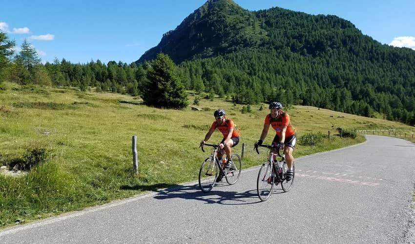 Top of Passo di Mortirolo from Mazzo