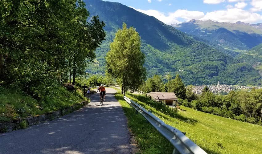 Passo di Mortirolo from Mazzo - Italian Alps Cycling Climb