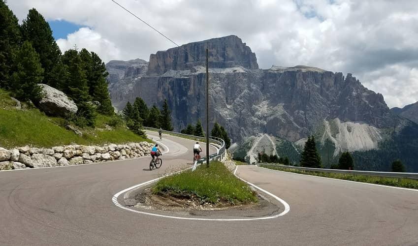 Passo Sella from Plan de Gralba - Italian Alps Cycling Climb