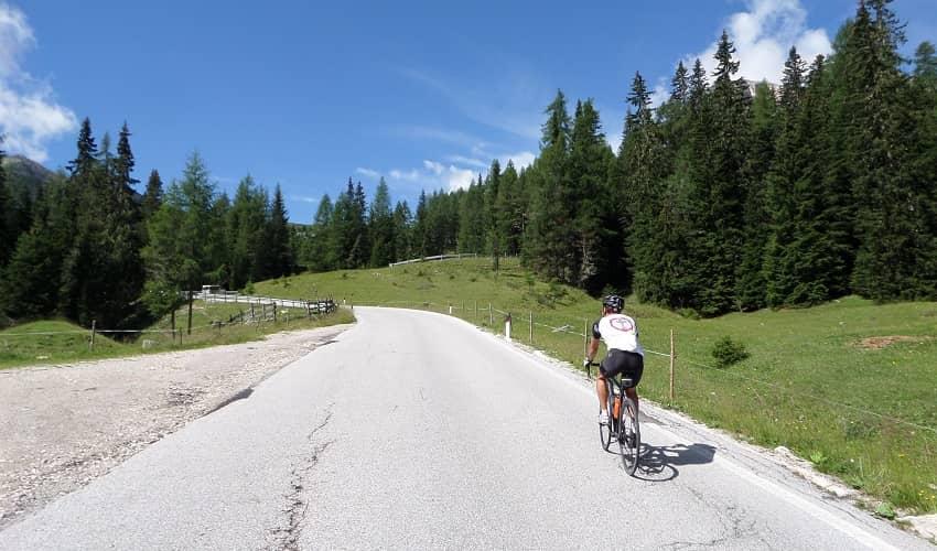Sella Ciampigotto from Pelos di Cadore - Italian Alps Cycling Climb