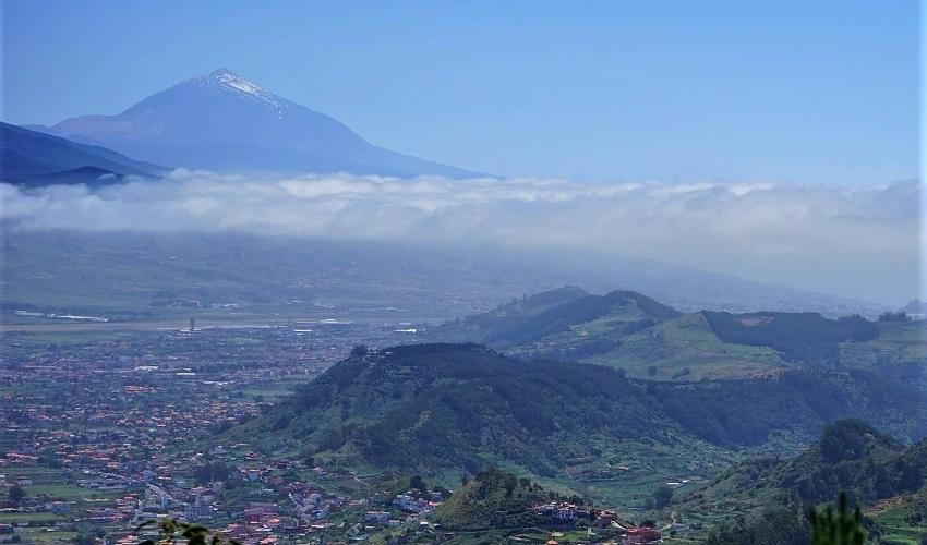Pico del Inglés - view of Teide - Tenerife Cycling Climb