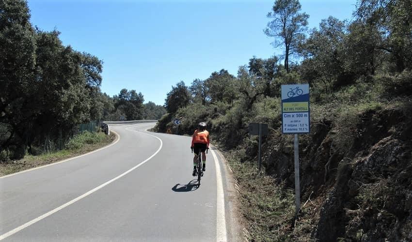 El Portell from Bocairent - Costa Blanca Cycling Climb