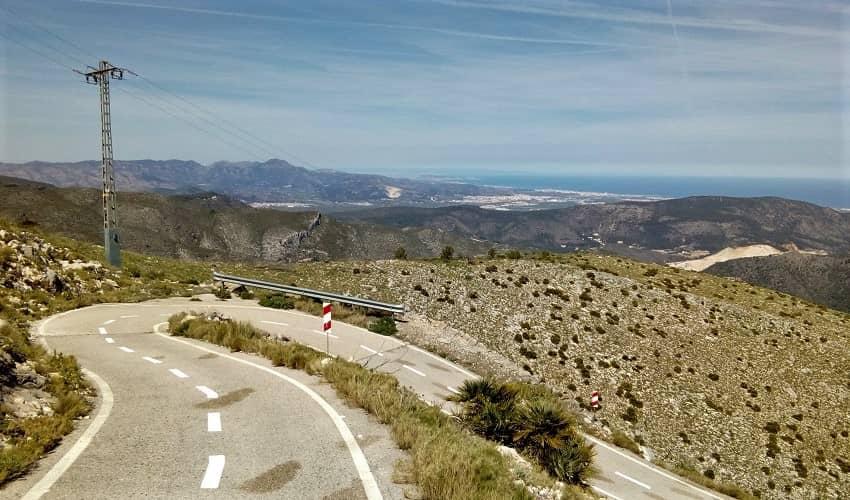 Miserat from Pego - Costa Blanca Cycling Climb