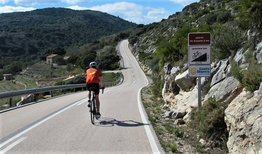 Sa Creueta from Tàrbena - Costa Blanca Cycling Climb